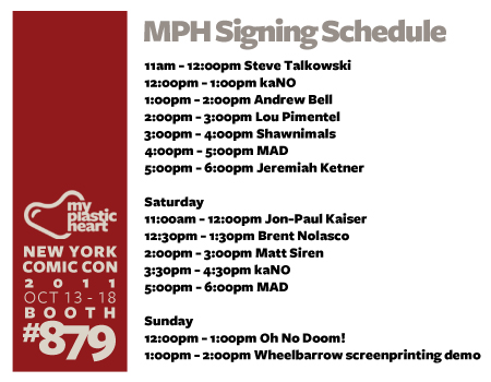 NYCC : Signing Schedule