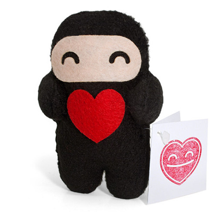 Love Ninja by Shawnimals for Valentine's Day