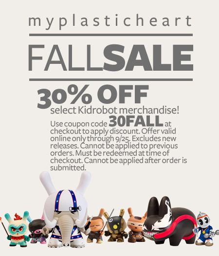30% Off Kidrobot items!