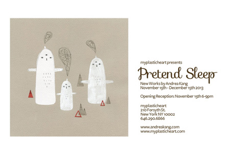 Pretend Sleep : New Works by Andrea Kang opening Nov 15th