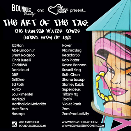 The Art of the Tag : Custom Water Tower Show opens Nov. 1st