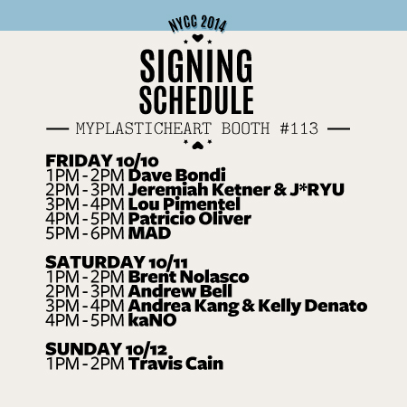 NYCC 2014 – Signing Schedule