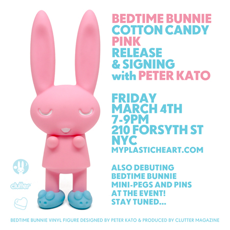 Bedtime Bunnie Cotton Candy Pink Release and Signing with Peter Kato 03.04.16