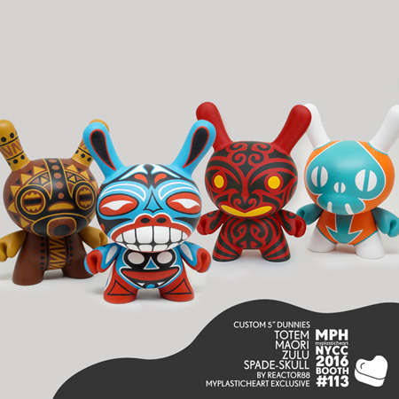 NYCC 2016 – Custom 5 inch Dunnies by Reactor88