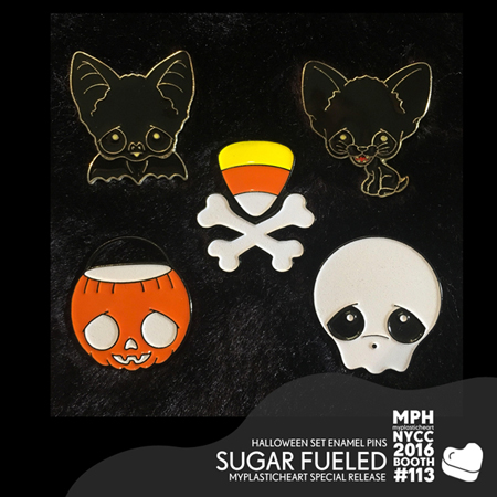 NYCC 2016 – Halloween Enamel Pin Set by Sugar Fueled