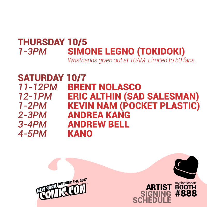 NYCC 2017 – Signing Schedule