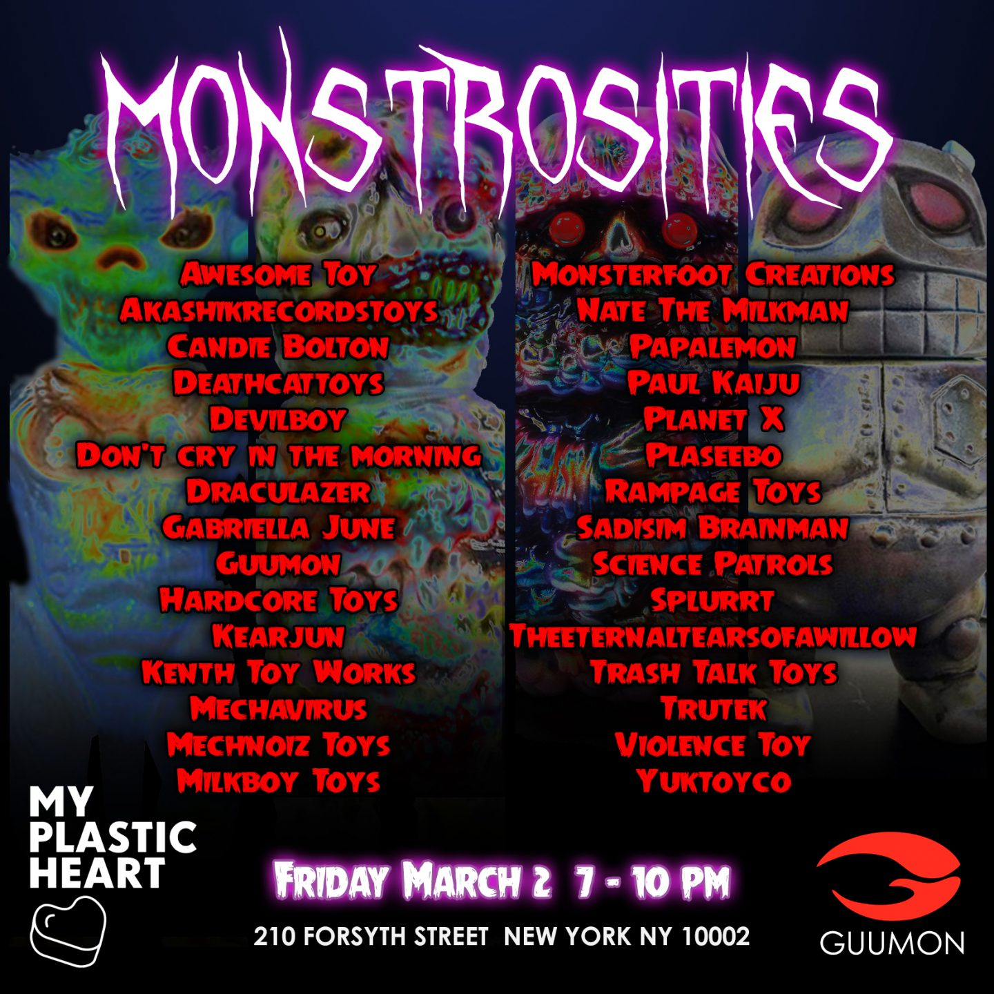Monstrosities 2018 opens March 2nd